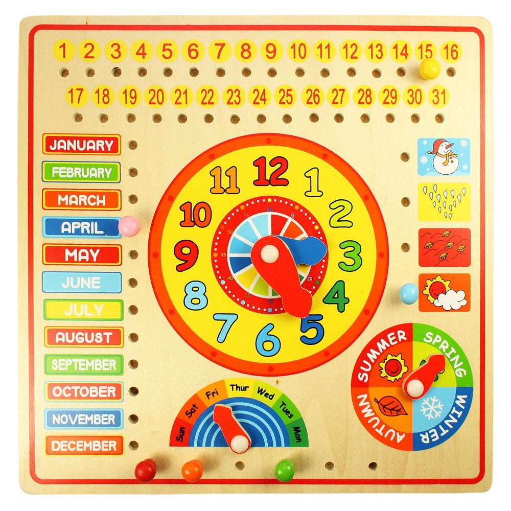 Schaukel Englisch tibo spielzeuge kalender uhr tage und monate auf englisch